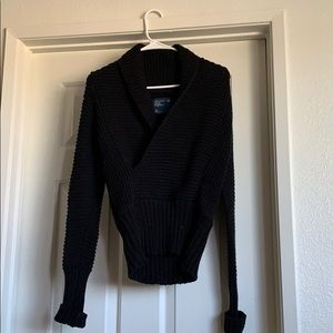 American eagle sweater - black faux wrap